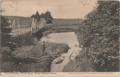 , Trout Fishing. Dunk River, Prince Edward Island. (1168), PEI Postcards