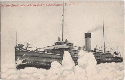 , Winter Service between Mainland & Charlottetown, P.E.I. (1180), PEI Postcards