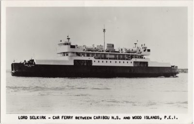 , Lord Selkirk – Car Ferry between Caribou N.S. and Wood Islands, P.E.I. (1166), PEI Postcards