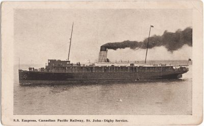, S.S. Empress, Canadian Pacific Railway, St. John – Digby Service. (1169), PEI Postcards