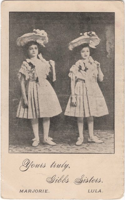 , Yours truly, Gibbs Sisters. Marjorie. Lula. (1197), PEI Postcards