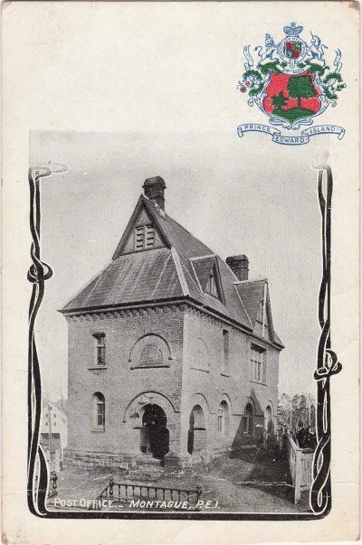, Post Office – Montague, P.E.I. (1196), PEI Postcards