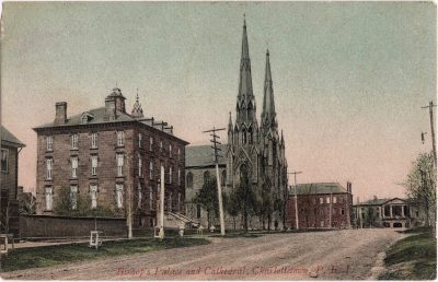 , Bishop's Palace and Cathedral, Charlottetown, P.E.I. (1199), PEI Postcards