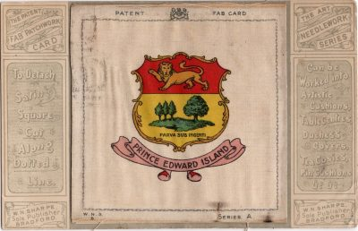 , The Patent Fab Patchwork Card. The Art Needlework Series. (1200), PEI Postcards