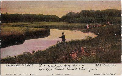 , Fishermans' Paradise Dunk River, P.E.I. (1257), PEI Postcards