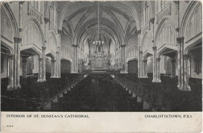 , Interior of St. Dunstan's Cathedral Charlottetown, P.E.I. (1260), PEI Postcards