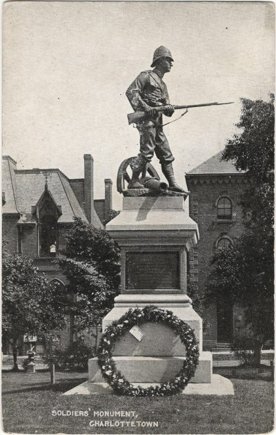 , Soldiers' Monument, Charlottetown (1263), PEI Postcards