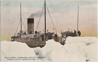 , D.G.S. Minto Icebound, Winter Service Pictou N.S. to Georgetown P.E.I. (1265), PEI Postcards