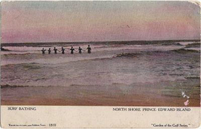 , Surf Bathing North Shore Prince Edward Island (1271), PEI Postcards