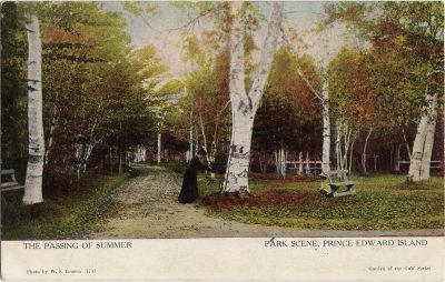 , The Passing of Summer Park Scene, Prince Edward Island (1272), PEI Postcards