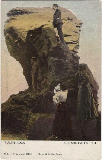 , Pulpit Rock Kildare Capes, P.E.I. (1204), PEI Postcards