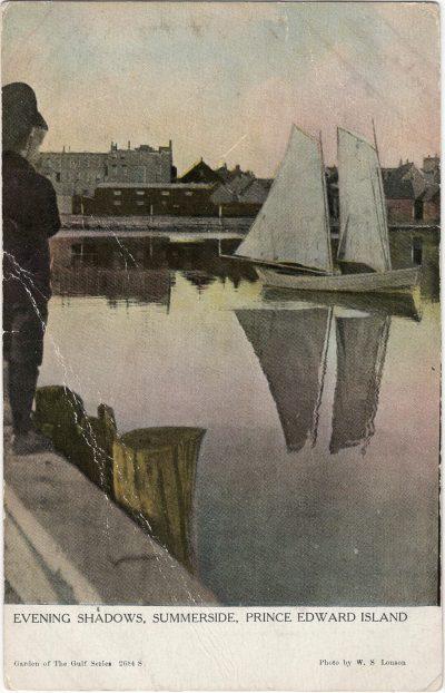 , Evening Shadows, Summerside, Prince Edward Island (1214), PEI Postcards