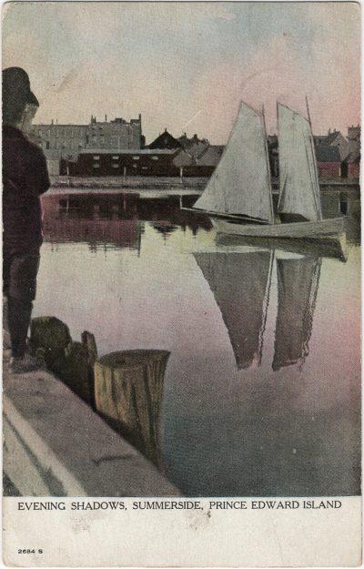 , Evening Shadows, Summerside, Prince Edward Island (1216), PEI Postcards