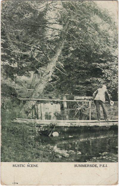 , Rustic Scene, Summerside, P.E.I. (1218), PEI Postcards