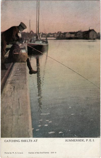 , Catching Smelts at Summerside, P.E.I. (1221), PEI Postcards