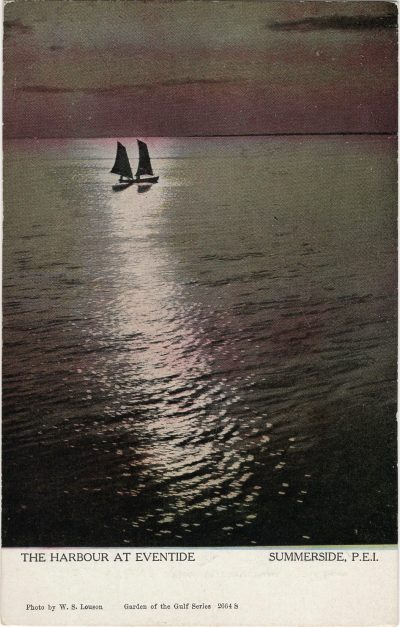 , The Harbour at Eventide Summerside, P.E.I. (1227), PEI Postcards