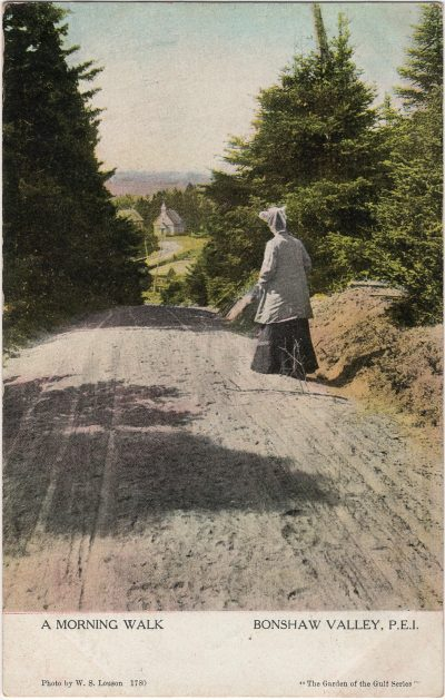 , A Morning Walk Bonshaw Valley, P.E.I. (1228), PEI Postcards