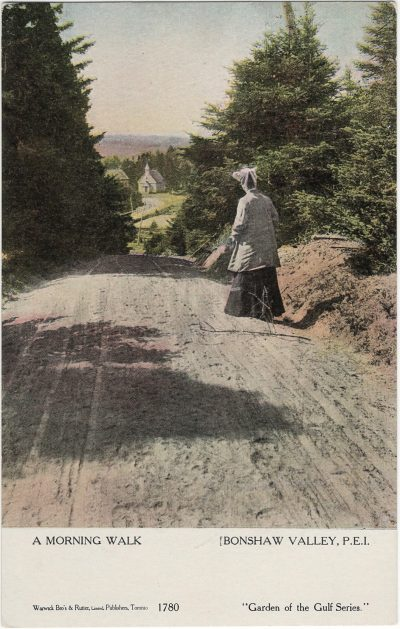 , A Morning Walk Bonshaw Valley, P.E.I. (1229), PEI Postcards
