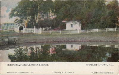 , Entrance to Government House Charlottetown, P.E.I. (1233), PEI Postcards