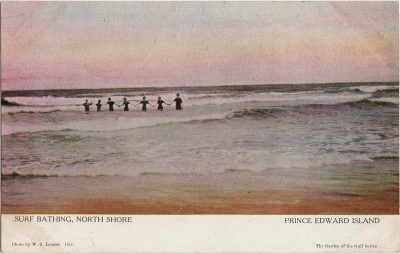 , Surf Bathing, North Shore Prince Edward Island (1234), PEI Postcards