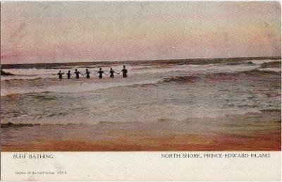 , Surf Bathing North Shore, Prince Edward Island (1236), PEI Postcards
