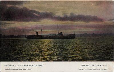 , Entering the Harbor at Sunset Charlottetown, P.E.I. (1237), PEI Postcards