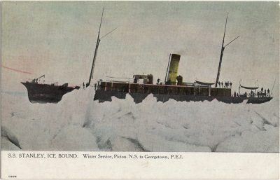 , S.S. Stanley, Ice Bound. Winter Service, Pictou, N.S. to Georgetown, P.E.I. (1238), PEI Postcards