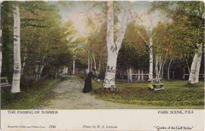 , The Passing of Summer Park Scene, P.E.I. (1239), PEI Postcards