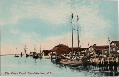 , The Water Front, Charlottetown, P.E.I. (1281), PEI Postcards