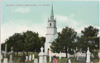 , Belfast Church near Eldon, P.E. Island (1282), PEI Postcards