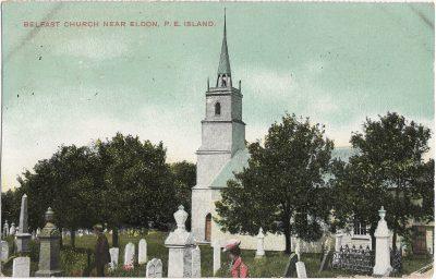 , Belfast Church near Eldon, P.E. Island (1287), PEI Postcards