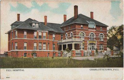, P.E.I. Hospital Charlottetown, P.E.I. (1294), PEI Postcards