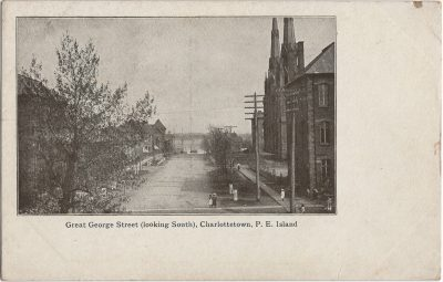 , Great George Street (looking South), Charlottetown, P.E. Island (1295), PEI Postcards