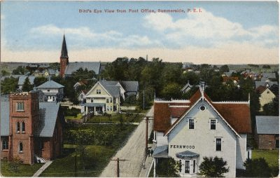, Bird's Eye View from Post Office, Summerside, P.E.I. (1296), PEI Postcards
