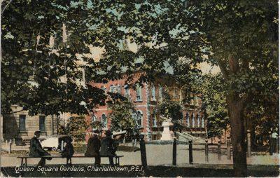 , Queen Square Gardens, Charlottetown, P.E.I. (1298), PEI Postcards