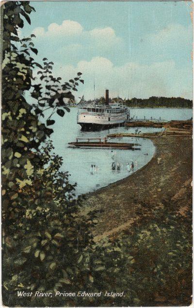 , West River, Prince Edward Island (1300), PEI Postcards