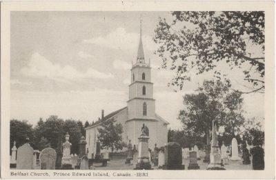 , Belfast Church, Prince Edward Island, Canada. (1303), PEI Postcards