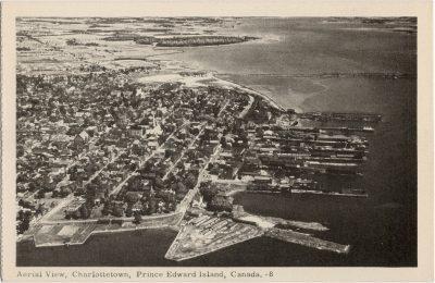 , Aerial View, Charlottetown, Prince Edward Island. (1307), PEI Postcards