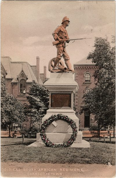 , Soldiers South African Regiment, Charlottetown (1308), PEI Postcards