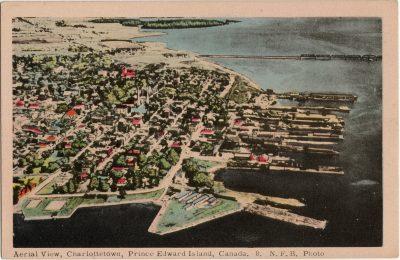 , Aerial View, Charlottetown, Prince Edward Island, Canada. (1309), PEI Postcards