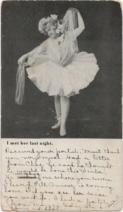 , I met her last night. (1314), PEI Postcards