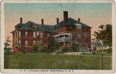 , P.E.I. Protestant Hospital, Charlottetown, P.E.I. (1321), PEI Postcards