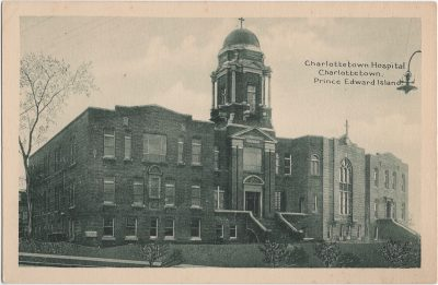 , Charlottetown Hospital, Charlottetown, Prince Edward Island. (1323), PEI Postcards