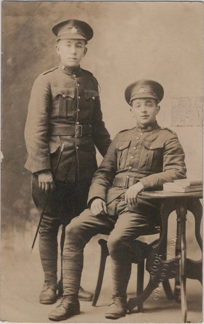 , {two young soldiers} (1324), PEI Postcards