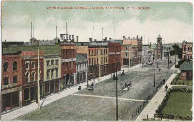 , Upper Queen Street, Charlottetown, P.E. Island. (1335), PEI Postcards