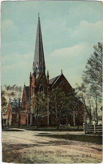 , Presbyterian Church, Charlottetown, P.E.I. (1339), PEI Postcards
