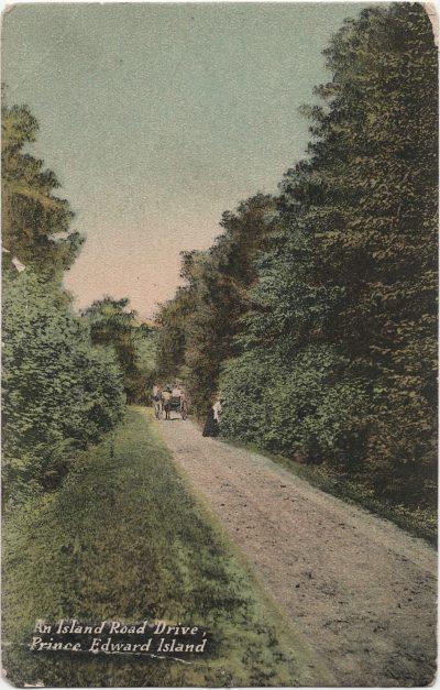 , An Island Road Drive, Prince Edward Island (1345), PEI Postcards
