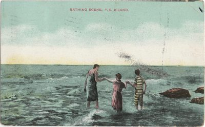 , Bathing Scene, P.E. Island (1347), PEI Postcards