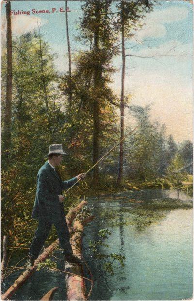 , Fishing Scene, P.E.I. (1352), PEI Postcards