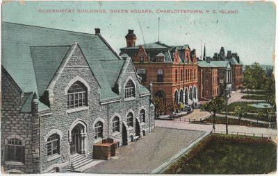 , Government Buildings, Queen Square, Charlottetown, P.E. Island (1350), PEI Postcards